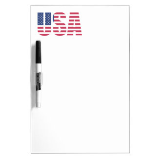 USA United States of America Dry Erase Whiteboards