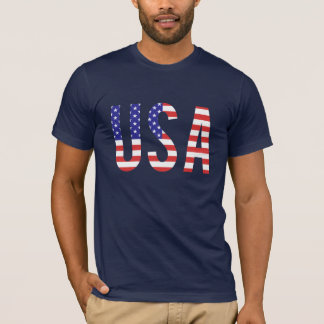 USA - United States of America Flag Letters T-Shirt