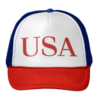USA - United States of America Patriotic National Trucker Hat