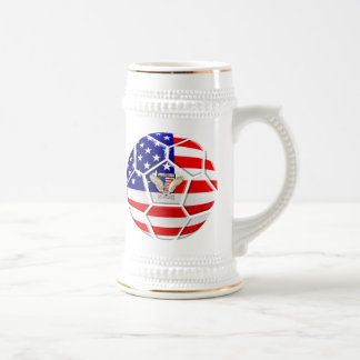 USA United States Soccer Ball gifts for fans Beer Stein