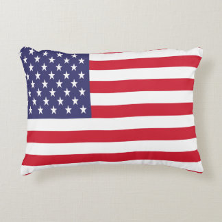 USA United States Stars And Bars Flag Accent Pillow