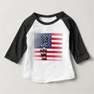 Usa United States Us America Peace Hand Nation Baby T-Shirt