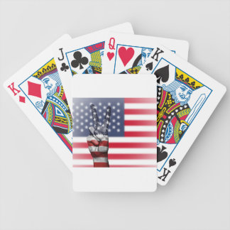 Usa United States Us America Peace Hand Nation Bicycle Playing Cards