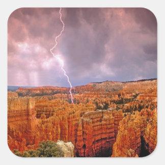 USA, Utah, Bryce Canyon National Park. Square Sticker
