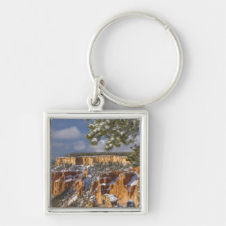 USA, Utah, Bryce Canyon National Park. Sunrise Silver-Colored Square Keychain