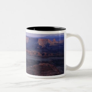 USA, Utah, Dead Horse Point SP. Late light turns Two-Tone Coffee Mug