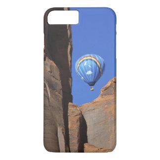 USA, Utah, Monument Valley. A rainbow hot-air iPhone 7 Plus Case