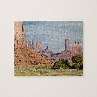 USA, Utah, Monument Valley Navajo Tribal Park. Jigsaw Puzzle