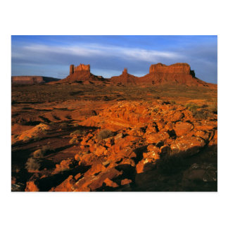USA, Utah, Monument Valley. Sunset light Postcard