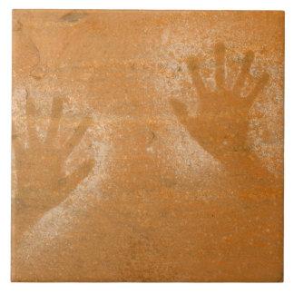 USA, Utah, Pictograph Hand-prints on sandstone, Tile
