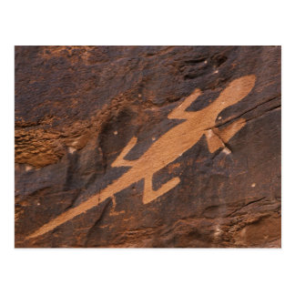 USA, Utah. Prehistoric petroglyph rock art at Postcard