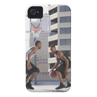 USA, Utah, Salt Lake City, two young men playing iPhone 4 Covers