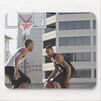 USA, Utah, Salt Lake City, two young men playing Mouse Pad