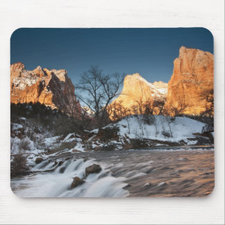 USA, Utah, Zion National Park. Mountain sunrise Mouse Pad