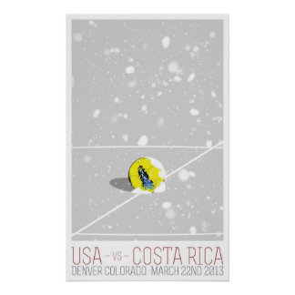 USA v Costa Rica Poster