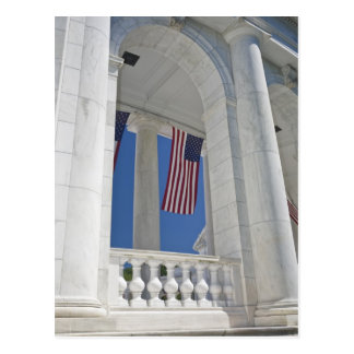 USA, VA, Arlington. American Flags are hung Postcard