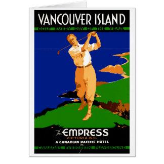 USA Vancouver Island Vintage Poster Restored Card