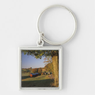USA, Vermont, south Woodstock, Jenne Farm at Silver-Colored Square Keychain