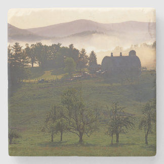 USA, Virginia, Giles County, Farm Stone Coaster