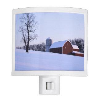 USA, Virginia, Shenandoah Valley, Barn Night Lights