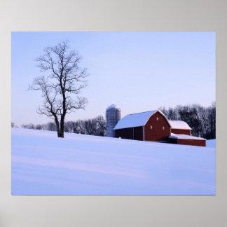 USA, Virginia, Shenandoah Valley, Barn Poster