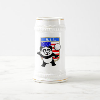 USA Volleyball Panda Beer Stein