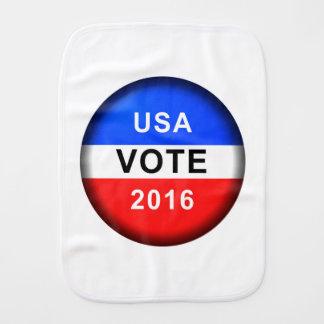 USA VOTE 2016 BURP CLOTHS