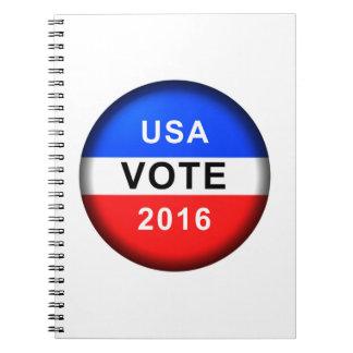 USA VOTE 2016 SPIRAL NOTEBOOKS