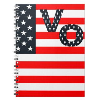 Usa Vote Spiral Note Books