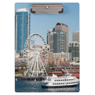 USA, Wa, Seattle. Argosy Harbor Cruise Boat Clipboard