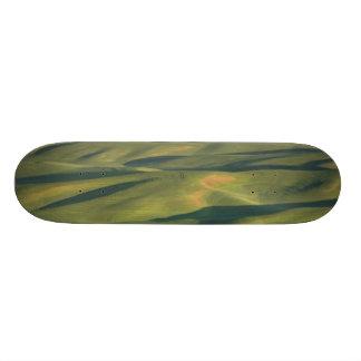 USA, WA, Whitman Co., Palouse Farm Fields From Skateboards