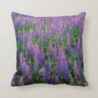 USA, Washington, Clallam County, Lupine Throw Pillow