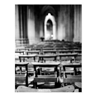 USA, Washington DC. Church pews of National Postcard