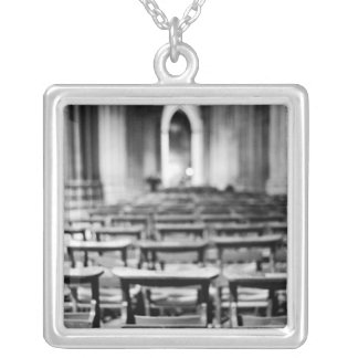 USA, Washington DC. Church pews of National Silver Plated Necklace