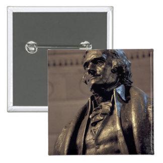 USA, Washington DC. Thomas Jefferson Memorial. 2 Inch Square Button