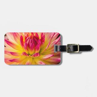 USA, Washington. Detail Of Dahlia Flower Luggage Tag