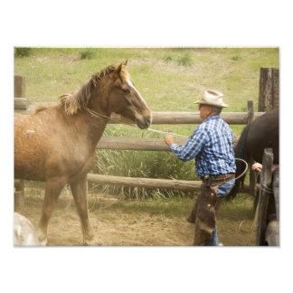 USA, Washington, Malaga, Unmounted cowboy Photo Print
