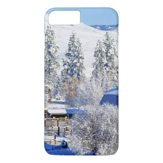USA, Washington, Methow Valley, Barns in iPhone 7 Plus Case