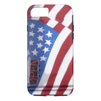 USA, Washington, Moses Lake. Flag wall mural on iPhone 7 Case