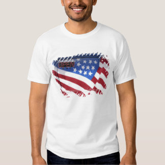 USA, Washington, Moses Lake. Flag wall mural on Tee Shirts