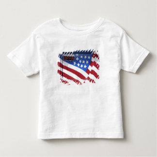 USA, Washington, Moses Lake. Flag wall mural on Tshirts