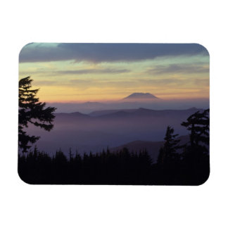 USA, Washington. Mount St. Helens seen through Rectangular Photo Magnet