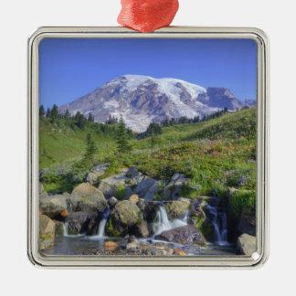 USA, Washington, Mt. Rainier NP, Mt. Rainier and 2 Metal Ornament