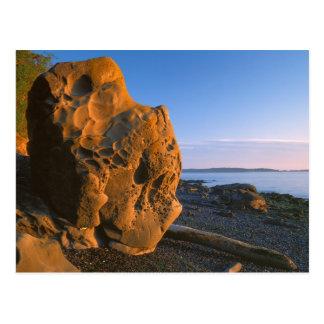 USA, Washington, Orcas Island, Boulder Postcard