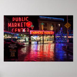 USA, Washington, Seattle, Pike Place Market Poster