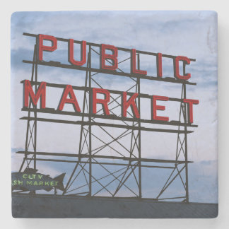 USA, Washington, Seattle, Pike Street Market Stone Coaster