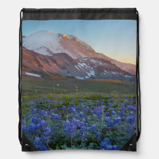 USA, Washington State. Alpine Lupine Drawstring Bag