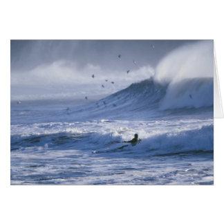 USA, Washington State, La Push. Man kayak Greeting Card