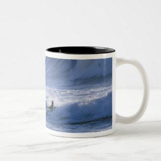 USA, Washington State, La Push. Man kayak Coffee Mugs