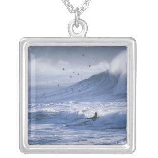 USA, Washington State, La Push. Man kayak Necklace